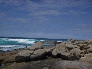 Orleans Bay Caravan Park - 3rd Beach shore stones
