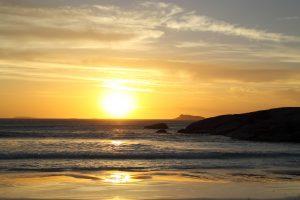 Orleans Bay Caravan Park - Big Wharton sunset beach