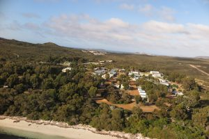 Orleans Bay Caravan Park - from above