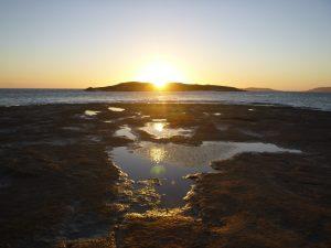 Orleans Bay Caravan Park - Little Wharton sunset