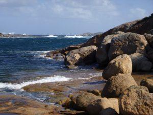Orleans Bay Caravan Park - Little Wharton surf and cliffs