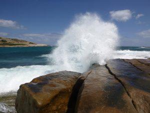 Orleans Bay Caravan Park - Little Wharton stones and surf