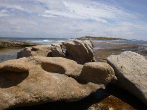 Orleans Bay Caravan Park - Little Wharton stones