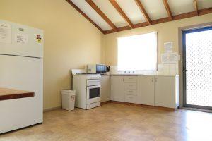 Orleans Bay Caravan Park Chalet Kitchen